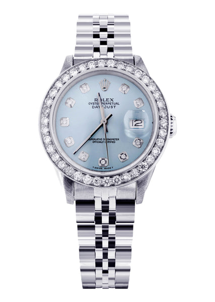 Diamond Rolex Datejust 36 MM | 2.75 Carat | Custom Diamond Dial | Jubiliee Band