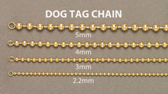 Mens Dog Tag Bracelet 10 Ct  Yellow Gold