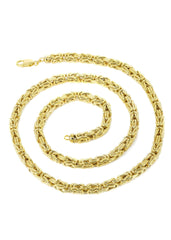 Gold Chain - Mens Italian Bizantine Chain 10 Ct Gold