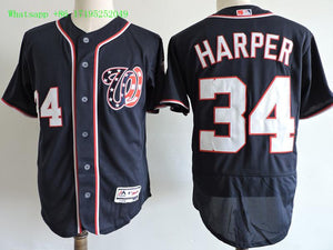 best service 0d8a2 4fe98 34 Bryce Harper For Men Stitched Jersey Size S to 3 XL Blue