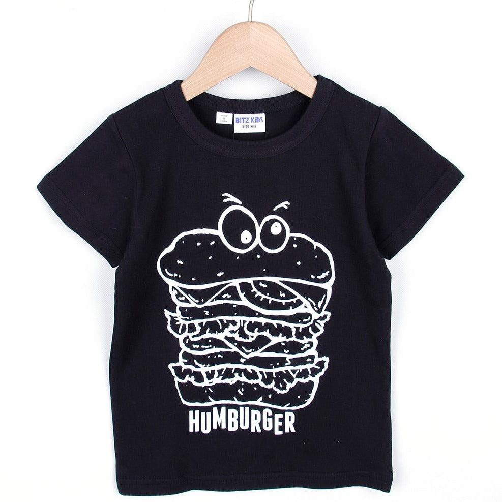 HAMBURGER T-SHIRT (Black/White) SS20