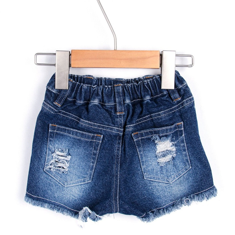 Pre-ripped Jeans Short Pants (Black/Navy blue/White)