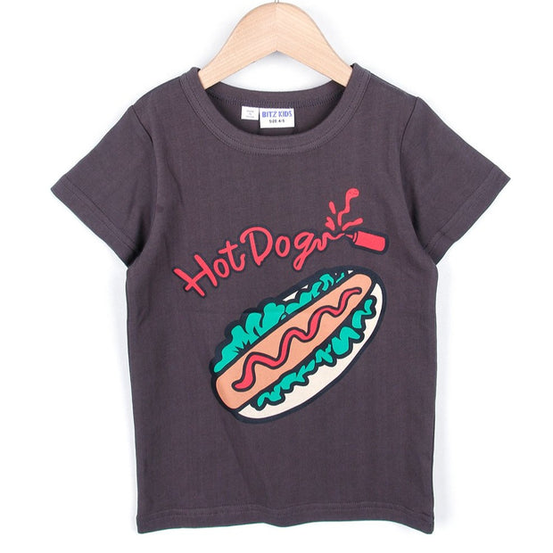 Hotdog T-shirt (Charcoal/White)