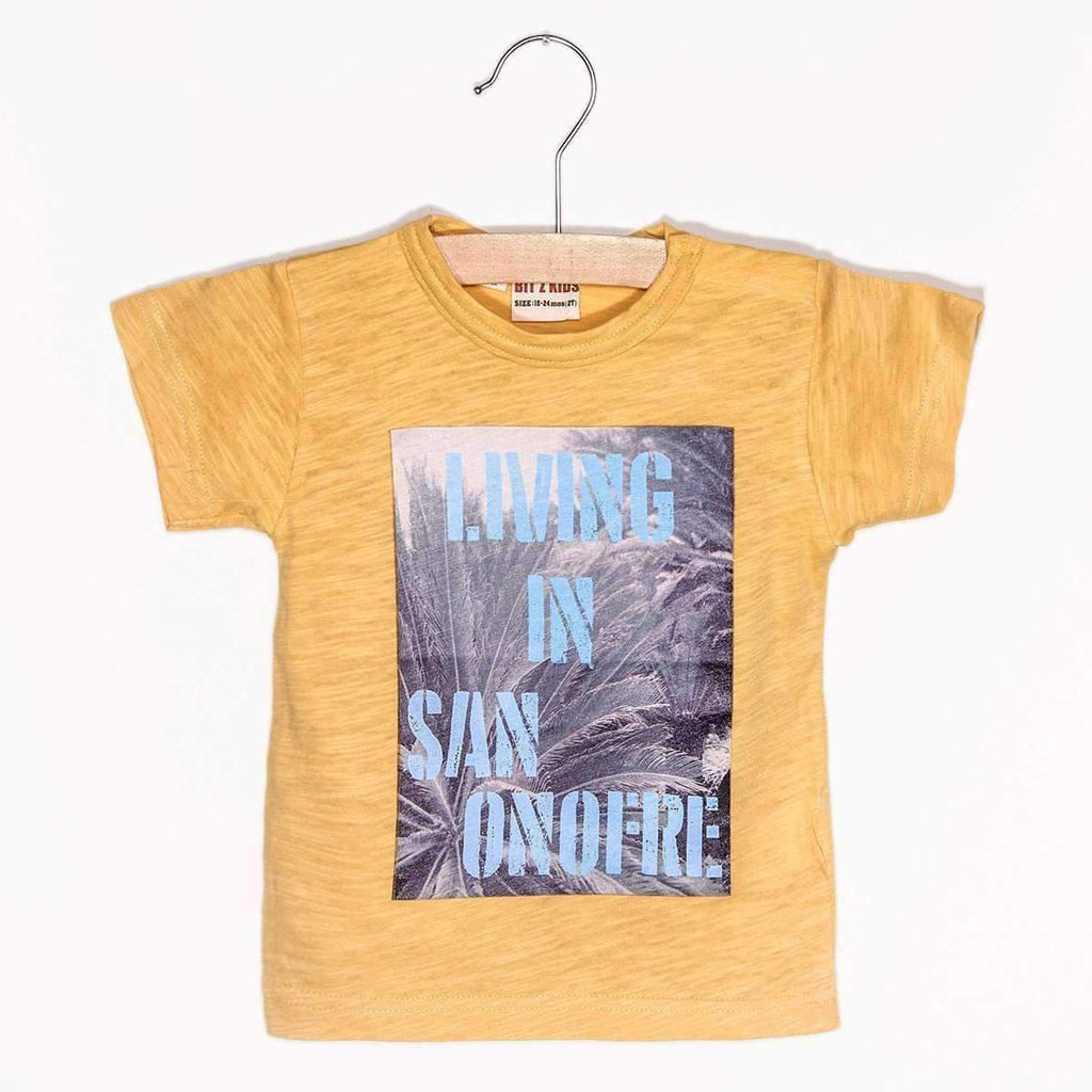 Living in San Onofre Tee - Yellow