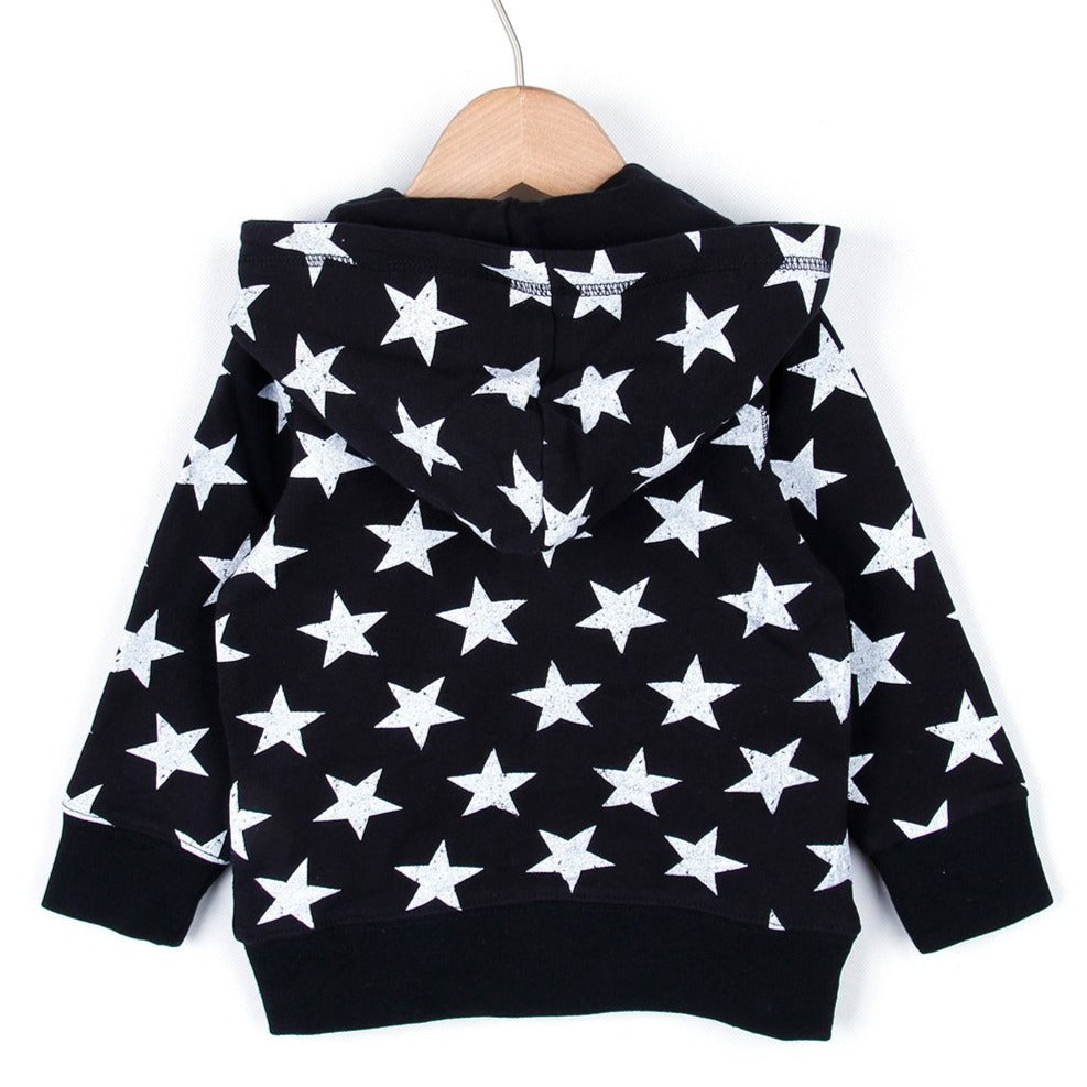 STAR HOODED (Black or Grey) SS20
