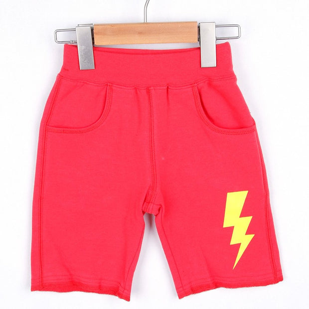Thunder Half Pants (Black/Red)