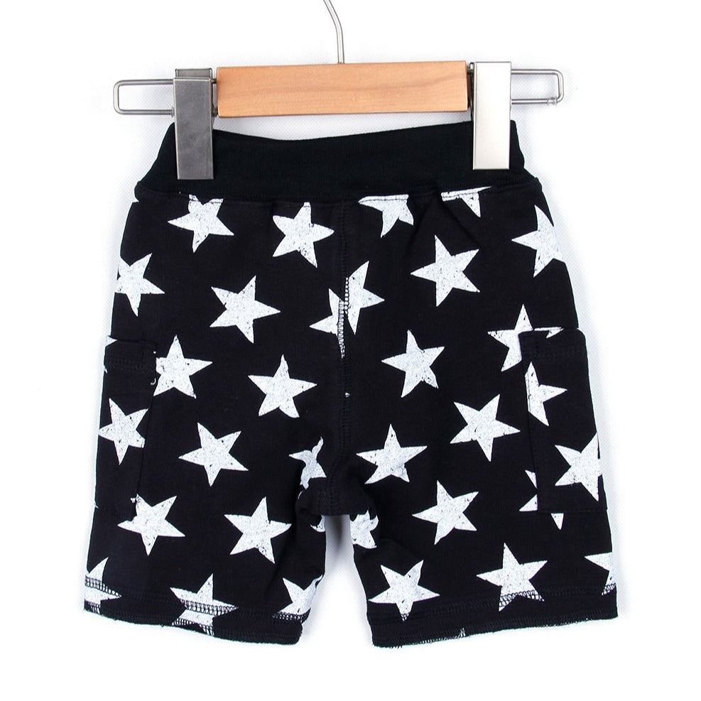 Star Half Pants (Black/Gray)