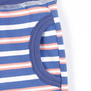 Border Half Stretch pants (Blue/Orange)