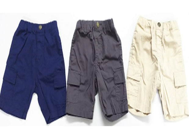 Cotton Plain Half Pants (Navy blue/Charcoal gray/Beige)