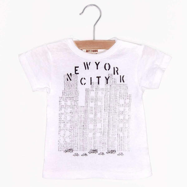 Stencil NYC Tee - Off White