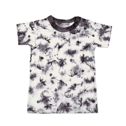 Tie-dye Dino Fossil Tee - Charcoal
