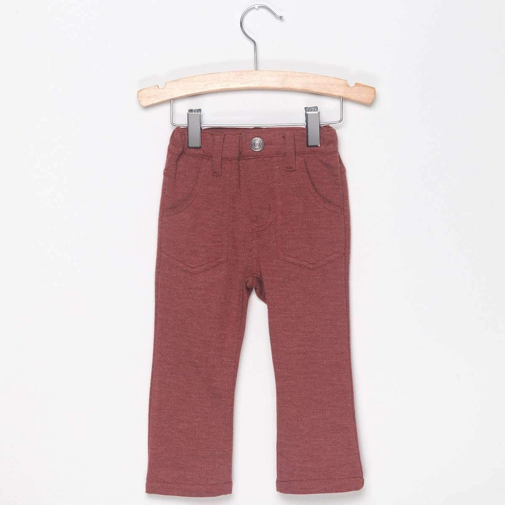 KNIT SKINNY PANTS - WARM ORANGE - Pants - Bit'z Kids - 1