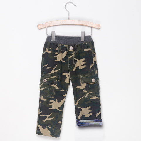 STRIPE LINED CARGO PANTS - HIP CAMOUFLAGE - Pants - Bit'z Kids - 1