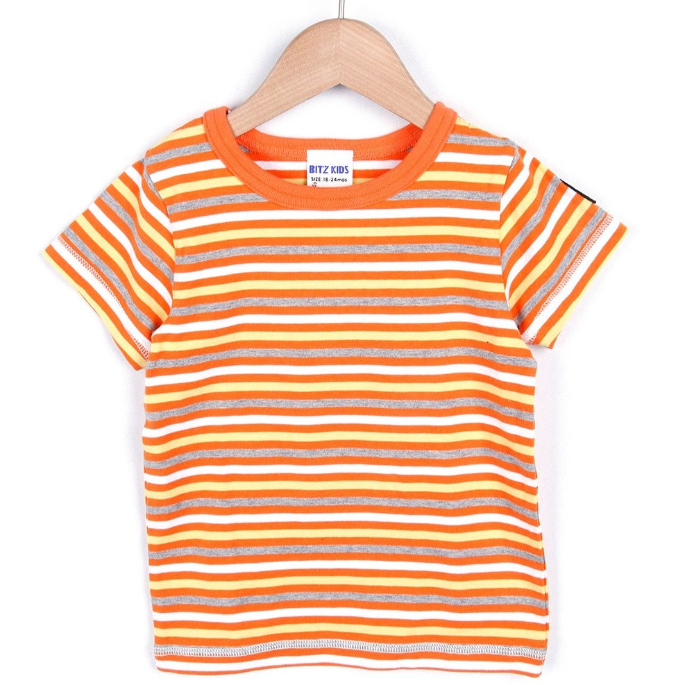 COLORFUL BORDER T-SHIRT (Orange/Blue) SS20