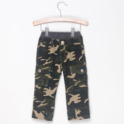 STRIPE LINED CARGO PANTS - HIP CAMOUFLAGE - Pants - Bit'z Kids - 2