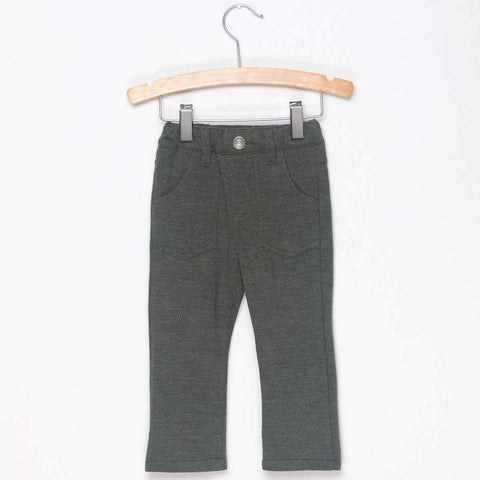 KNIT SKINNY PANTS - KHAKI GREEN - Pants - Bit'z Kids - 1