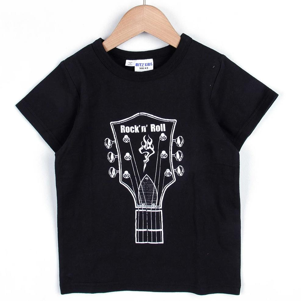 GUITAR ROCK T-SHIRT (White/Black) SS20