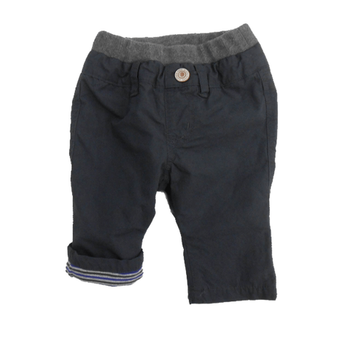 BABY STRIPE LINED CARGO PANTS - CHARCOAL - Pants - Bit'z Kids - 1