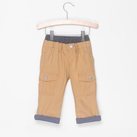 STRIPE LINED CARGO PANTS - GOOD BOY BEIGE - Pants - Bit'z Kids - 4