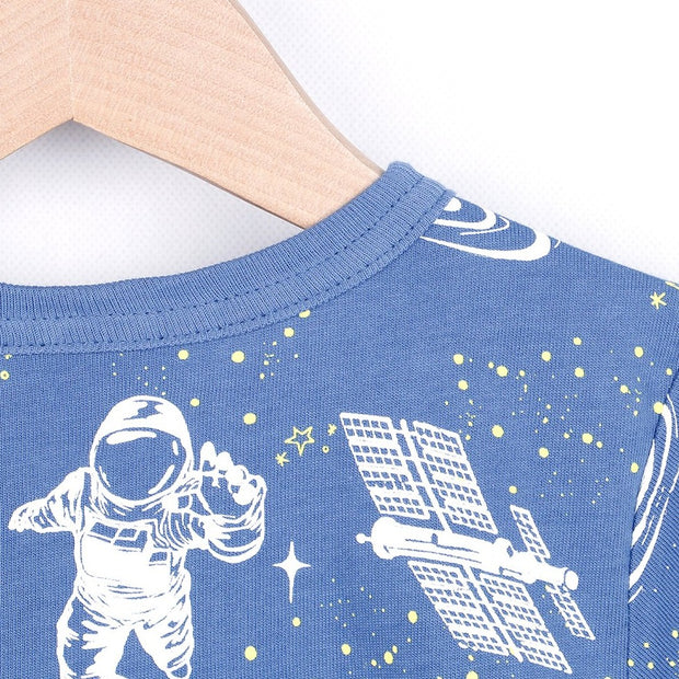 Luminous Space T-shirt (Black/Navy blue)