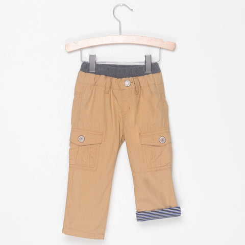 STRIPE LINED CARGO PANTS - GOOD BOY BEIGE - Pants - Bit'z Kids - 1