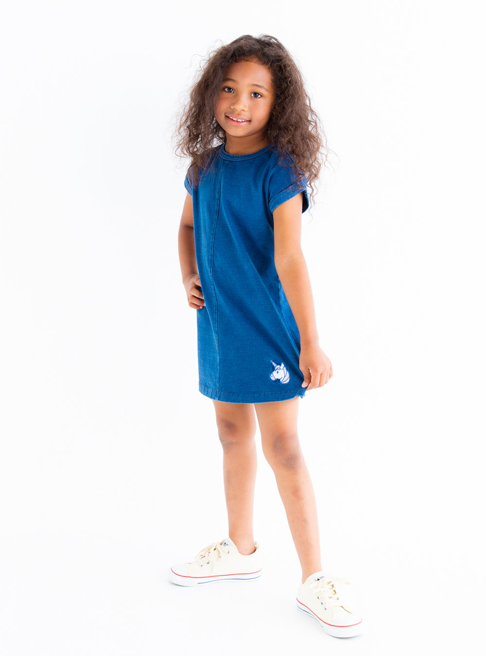Unicorn patch Dress (Navy blue/Blue)