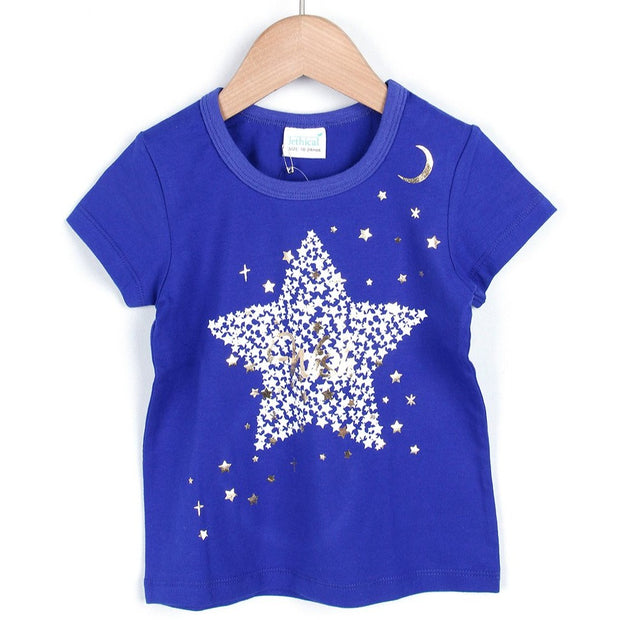 Big Star & Moon glitter T-SHIRTS (2 colors) SS20