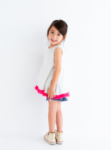 GIRLS NY TEE - OFF WHITE - T-shirt - Bit'z Kids - 1