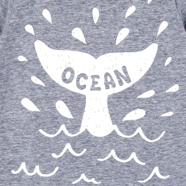 Whale Tail T-shirt (Gray/White)