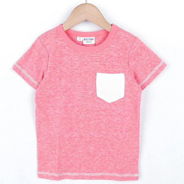 POCKET MESH COLOR SCEME T-SHIRT (4 colors) SS20