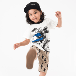Cotton Typewriter Shorts - Bit'z Kids