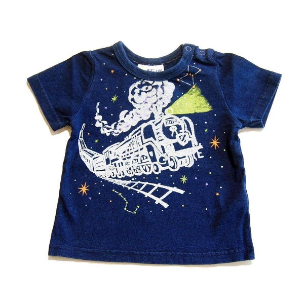 Space Train Tee - Navy Blue