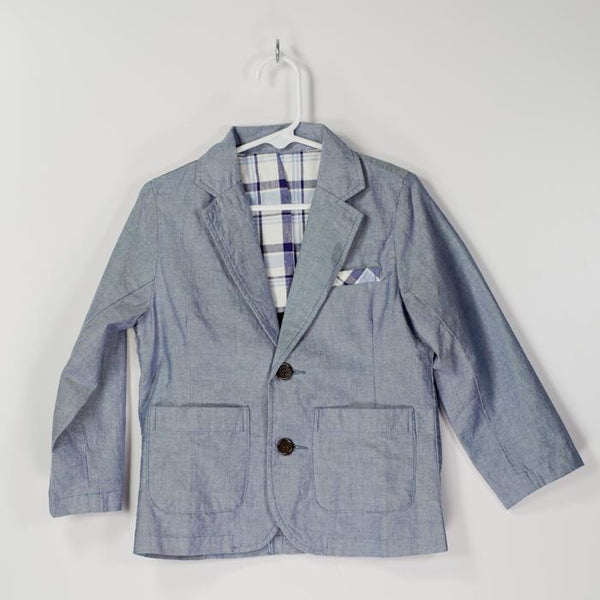Chambray Summer Tailored Jacket