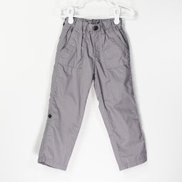 Easy Pull on Cotton Typewriter Roll up Pants