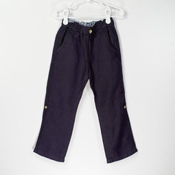 Easy Pull on Linen Roll up Pants