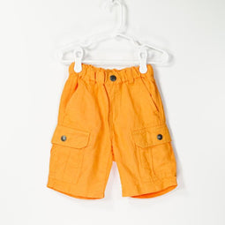 Easy Pull on Neon Linen Shorts