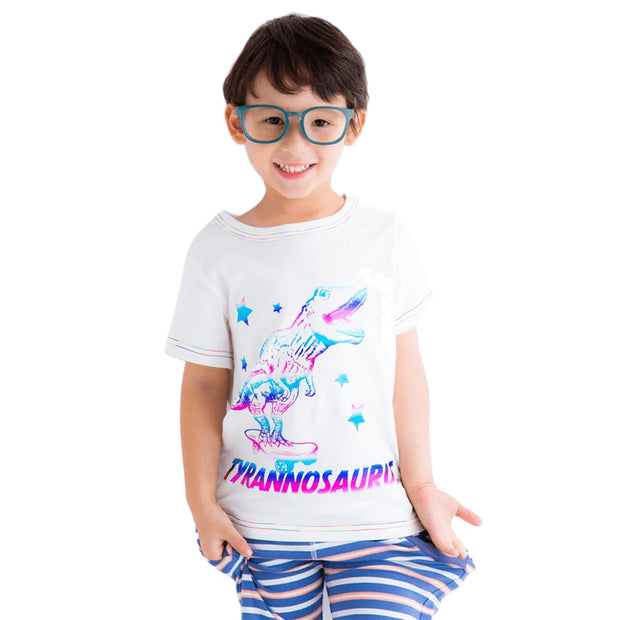 Dinosaur T-shirt (White/Navy blue)