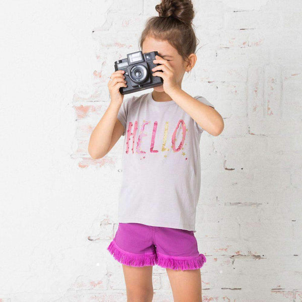 Girls' City Tee GRAY 18ss - Bit'z Kids