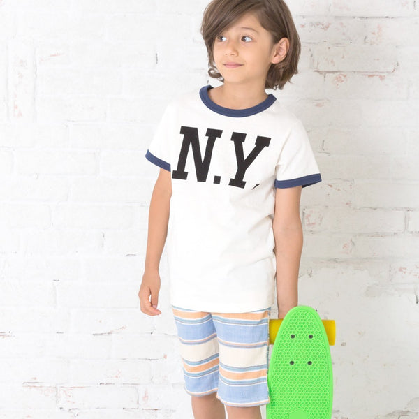 Double Gauze Striped Shorts - Bit'z Kids