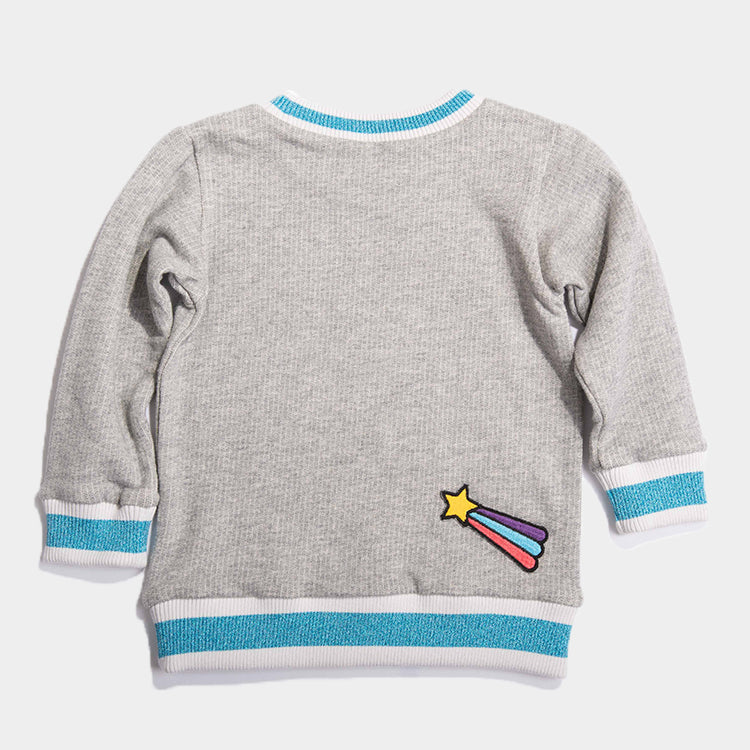 Girl's Patched Sweatshirt 19aw