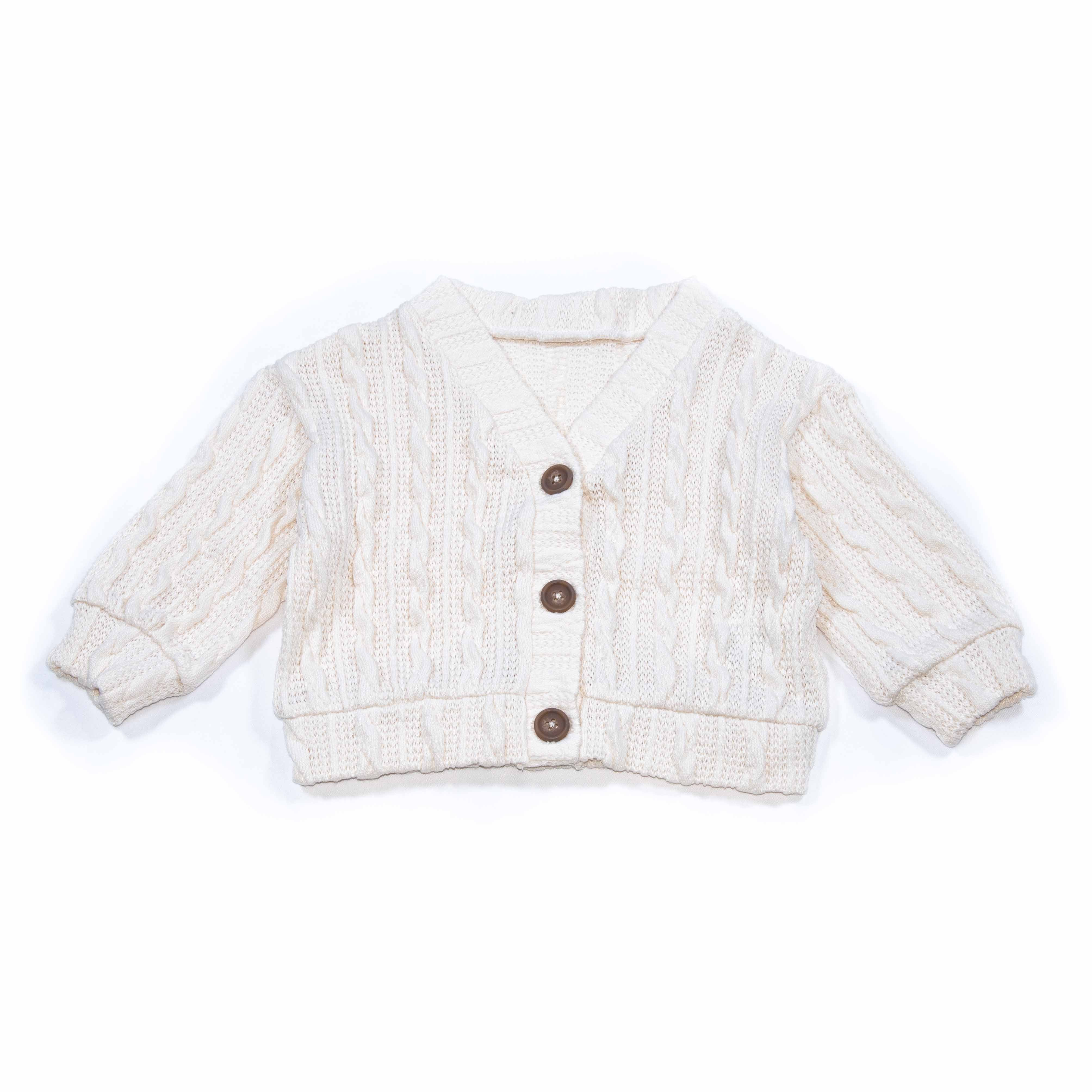 Girls' Cardigan Sweaters (light pink/beige/ivory)