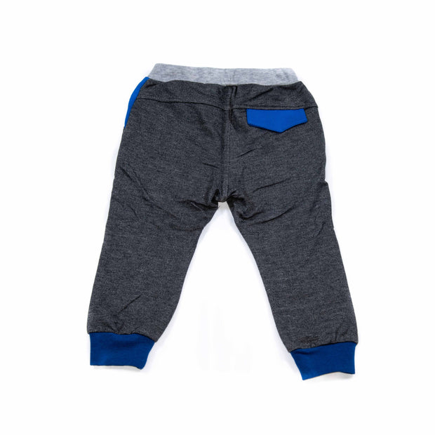 Jogger Pants with a Stitch (Beige/Charcoal)