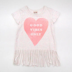 Girls' Color Nep Fringy Tunic - OFF WHITE 18ss - Bit'z Kids