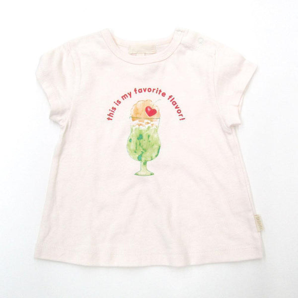 Girls' Parfait & Cupcake Printed Tee - LIGHT CREAM 18ss - Bit'z Kids
