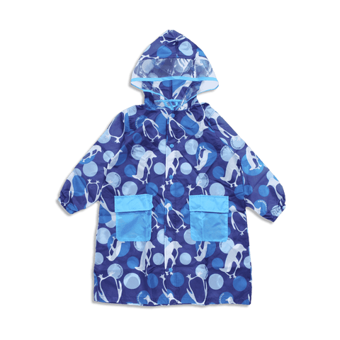 blue kids raincoat for rainy days
