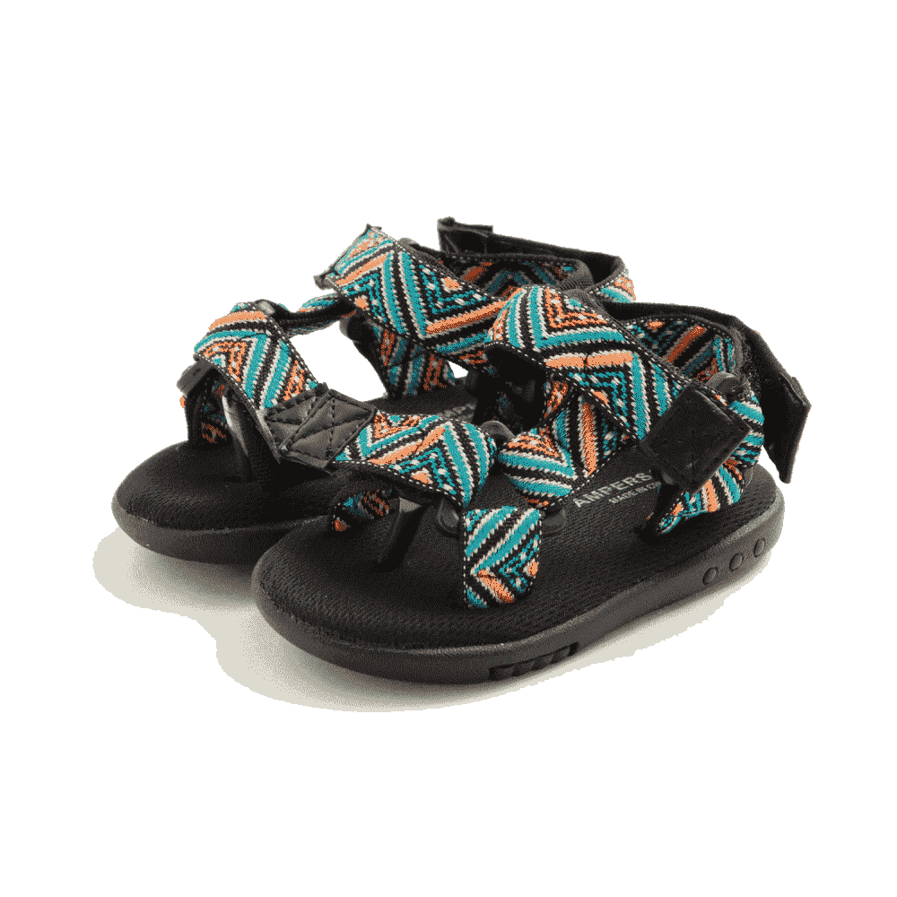 Tribal Print Sandals - Black