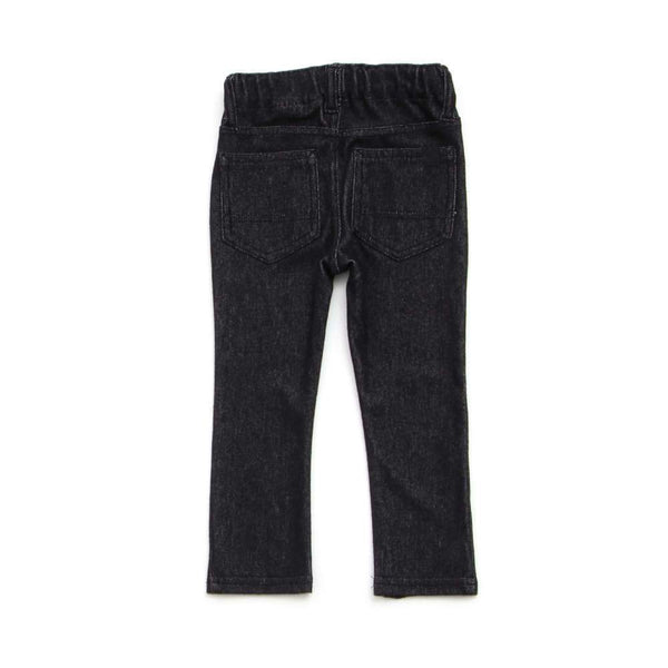 Denim Knit Leggings - Black - Bit'z Kids