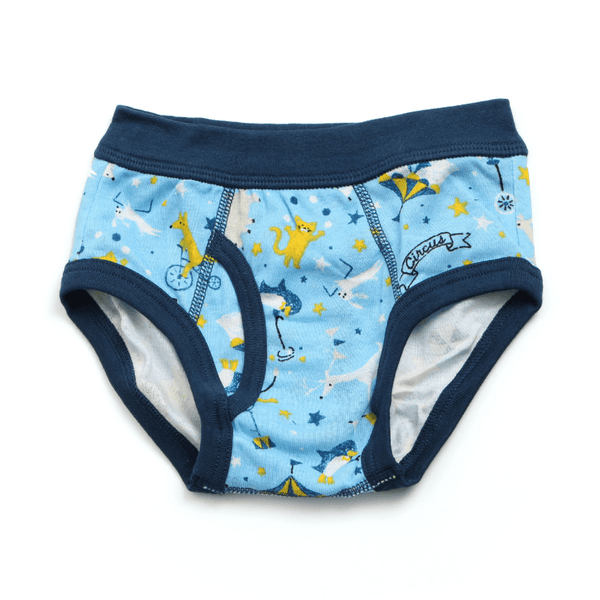 Boy's Circus Printed Briefs - NAVY BLUE - Bit'z Kids