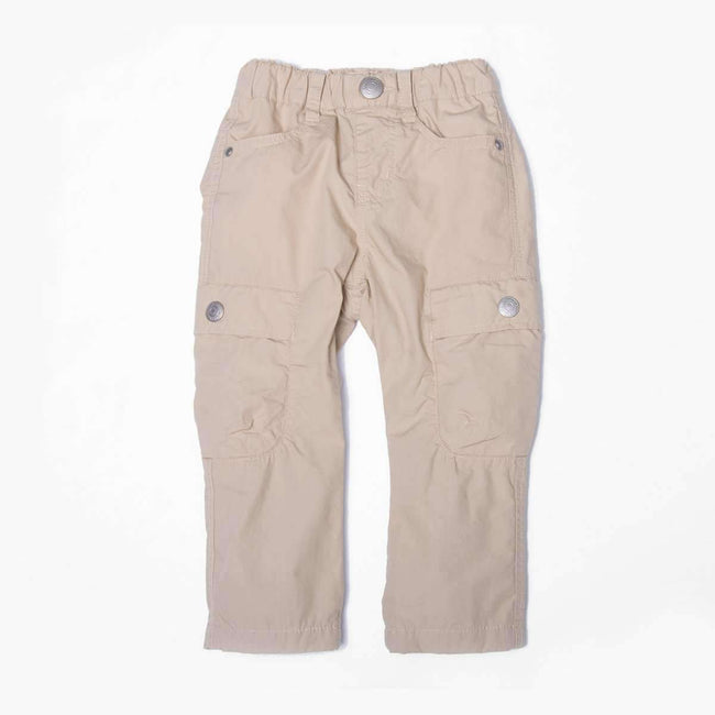 Stripe Lined Cargo Pants  - Beige