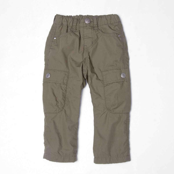 Stripe Lined Cargo Pants  - Khaki Green